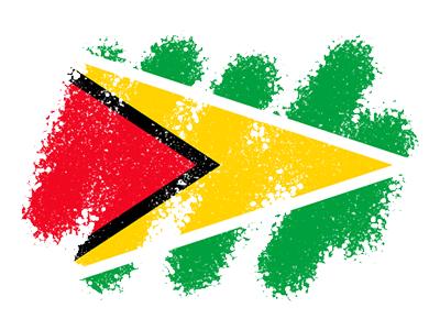 ガイアナ共和国の国旗-クレヨン1