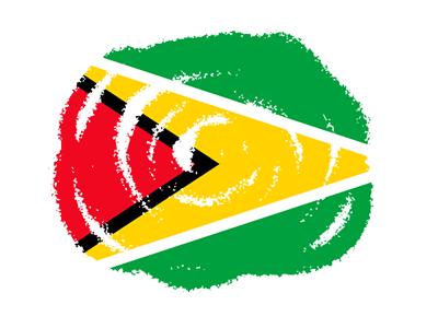 ガイアナ共和国の国旗-クラヨン2