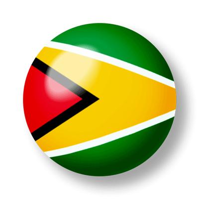 ガイアナ共和国の国旗-ビー玉