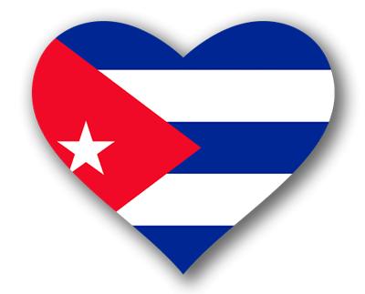 キューバ共和国の国旗-ハート