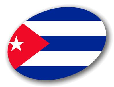キューバ共和国の国旗-楕円