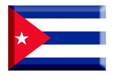 キューバ共和国の国旗-板チョコ