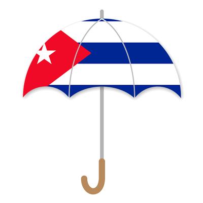 キューバ共和国の国旗-傘
