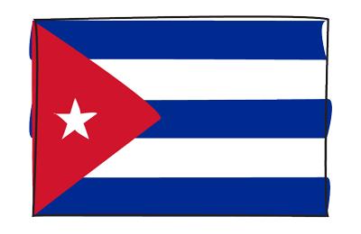 キューバ共和国の国旗-グラフィティ