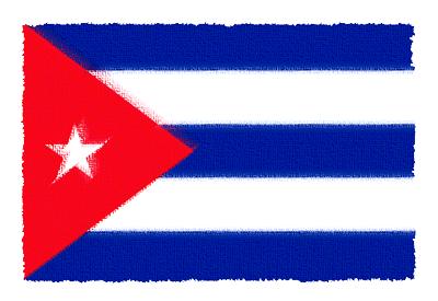 キューバ共和国の国旗-パステル