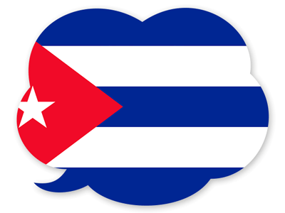キューバ共和国の国旗-吹き出し