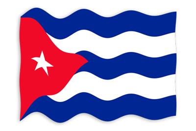 キューバ共和国の国旗-波