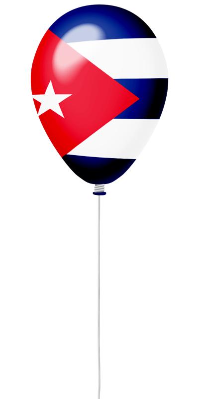キューバ共和国の国旗-風せん