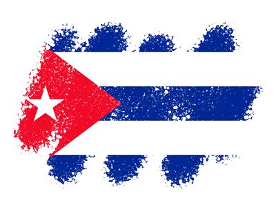 キューバ共和国の国旗-クレヨン1