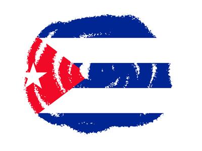 キューバ共和国の国旗-クラヨン2