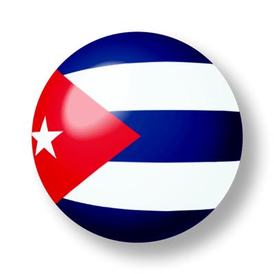 キューバ共和国の国旗-ビー玉