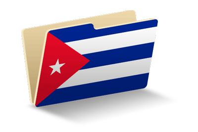 キューバ共和国の国旗-フォルダ