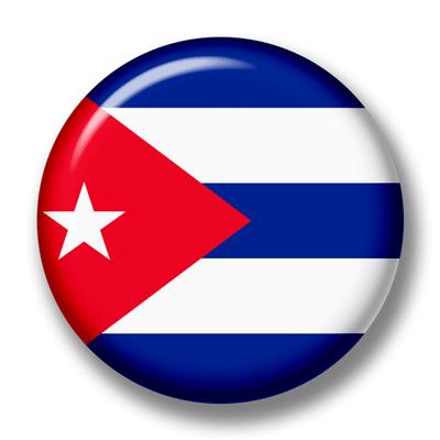 キューバ共和国の国旗-缶バッジ