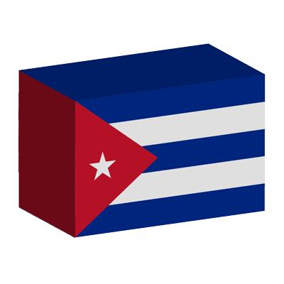 キューバ共和国の国旗-積み木