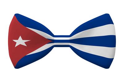 キューバ共和国の国旗-蝶タイ