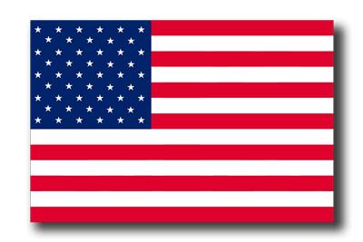 アメリカの国旗-ドロップシャドウ