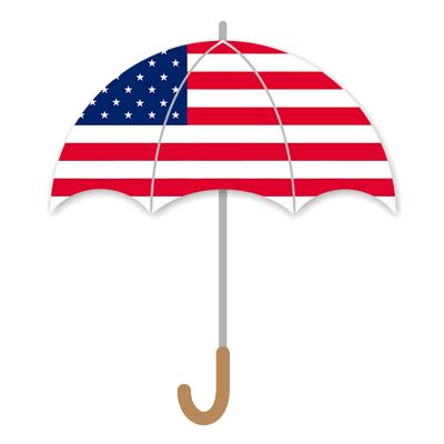 アメリカの国旗-傘
