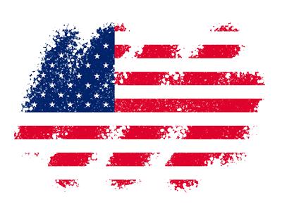 アメリカの国旗-クレヨン1