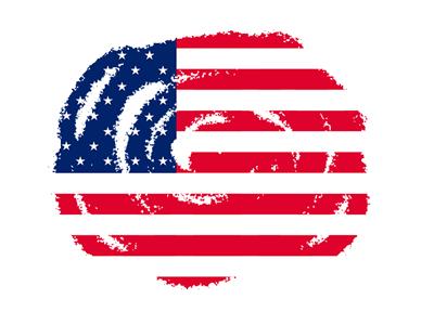 アメリカの国旗-クレヨン2