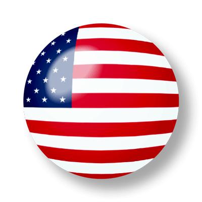 アメリカの国旗-ビー玉