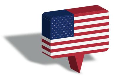 アメリカの国旗-マップピン