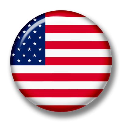 アメリカの国旗-缶バッジ