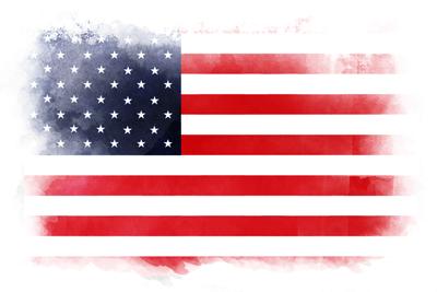 アメリカの国旗-水彩風
