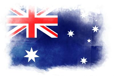 オーストラリア連邦の国旗-水彩風