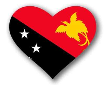 パプアニューギニア独立国の国旗-ハート