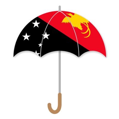 パプアニューギニア独立国の国旗-傘