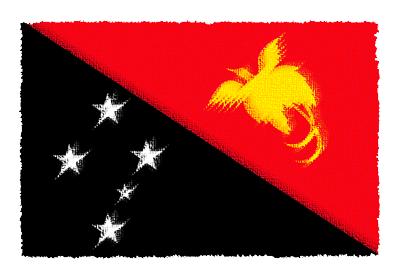 パプアニューギニア独立国の国旗-パステル