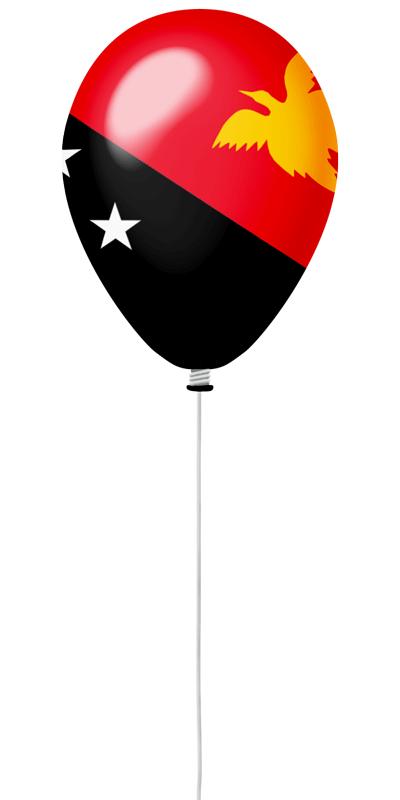 パプアニューギニア独立国の国旗-風せん