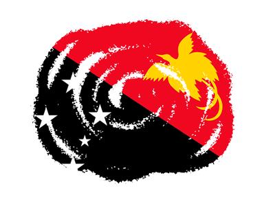 パプアニューギニア独立国の国旗-クラヨン2