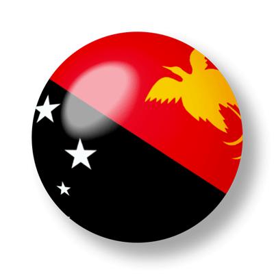 パプアニューギニア独立国の国旗-ビー玉