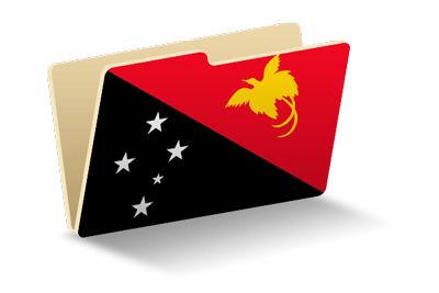 パプアニューギニア独立国の国旗-フォルダ
