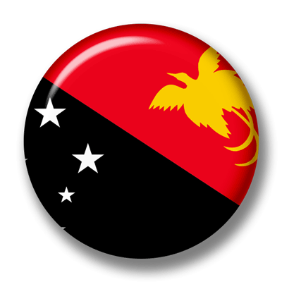 パプアニューギニア独立国の国旗-缶バッジ
