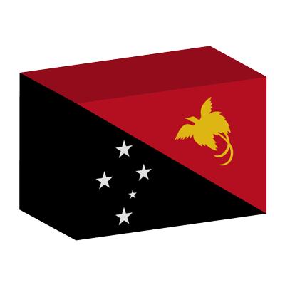 パプアニューギニア独立国の国旗-積み木