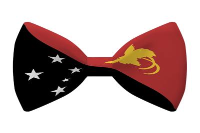パプアニューギニア独立国の国旗-蝶タイ