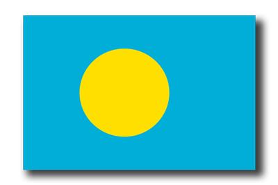 パラオ共和国の国旗-ドロップシャドウ