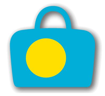 パラオ共和国の国旗-バッグ