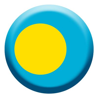 パラオ共和国の国旗-コイン