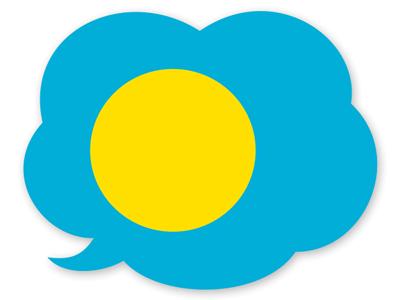 パラオ共和国の国旗-吹き出し