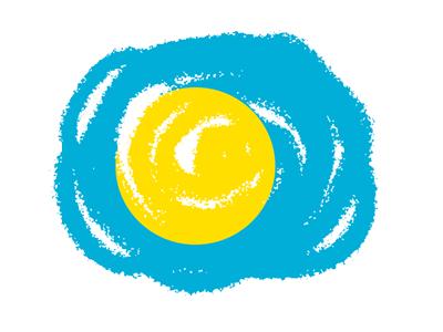 パラオ共和国の国旗-クラヨン2