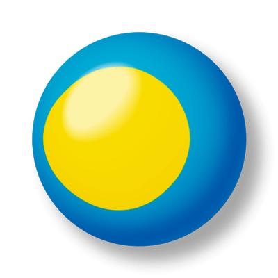 パラオ共和国の国旗-ビー玉