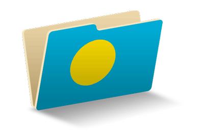 パラオ共和国の国旗-フォルダ