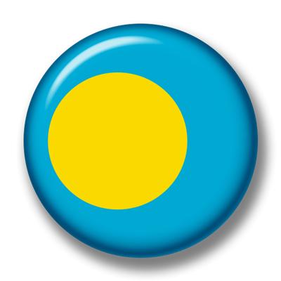 パラオ共和国の国旗-缶バッジ