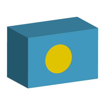 パラオ共和国の国旗-積み木