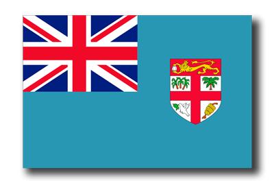 フィジー共和国の国旗-ドロップシャドウ