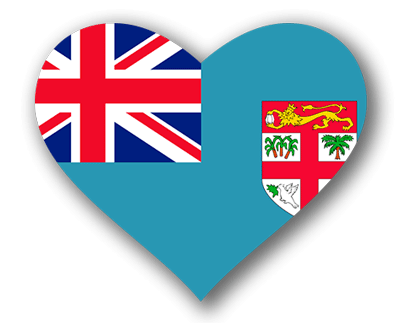 フィジー共和国の国旗-ハート
