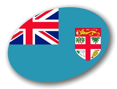 フィジー共和国の国旗-楕円